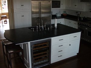 Beautiful soapstone island in San Diego at the Countertop Company